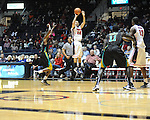 "Ole Miss's Marshall Henderson (22) vs. Coastal Carolina at the C.M. ""Tad"" Smith Coliseum in Oxford, Miss. on Tuesday, November 13, 2012. (AP Photo/Oxford Eagle, Bruce Newman)"