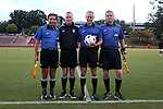 22 September 2016: Match Officials. From left: Assistant Referee Abbas Piran, Fourth Official Scott Bowers, Referee Nick Balcer, Assistant Referee Erick Varone. The North Carolina State University Wolfpack hosted the University of Notre Dame Fighting Irish at Dail Soccer Field in Raleigh, North Carolina in a 2016 NCAA Division I Women's Soccer match. Notre Dame won the game 1-0.