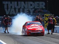 Jun 19, 2016; Bristol, TN, USA; NHRA pro stock driver Drew Skillman during the Thunder Valley Nationals at Bristol Dragway. Mandatory Credit: Mark J. Rebilas-USA TODAY Sports
