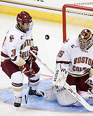 Cam Atkinson (BC - 13), Parker Milner (BC - 35) - The Boston College Eagles defeated the visiting University of Toronto Varsity Blues 8-0 in an exhibition game on Sunday afternoon, October 3, 2010, at Conte Forum in Chestnut Hill, MA.