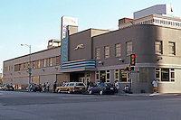 Dallas:  Greyhound Bus Depot, c. 1946? Origins in 1920's--Russian Constructivism. Remarkable that this bldg. preserved.
