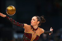 Anna Bessonova of Ukraine performs with ball at 2009 World Cup at Portimao, Portugal on April 19, 2009.  (Photo by Tom Theobald).