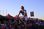 FDJ at the Team Presentation in Alghero, Sardinia for the 100th edition of the Giro d'Italia 2017, Sardinia, Italy. 4th May 2017.<br /> Picture: Eoin Clarke | Cyclefile<br /> <br /> <br /> All photos usage must carry mandatory copyright credit (&copy; Cyclefile | Eoin Clarke)