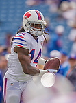 14 September 2014: Buffalo Bills wide receiver Sammy Watkins warms up prior to facing the Miami Dolphins at Ralph Wilson Stadium in Orchard Park, NY. The Bills defeated the Dolphins 29-10 to win their home opener and start the season with a 2-0 record. Mandatory Credit: Ed Wolfstein Photo *** RAW (NEF) Image File Available ***