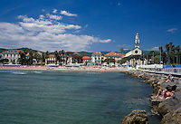 Italy, Liguria, Italian Riviera, Diano Marina: resort at the Riviera dei Fiori