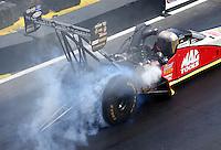 May 22, 2016; Topeka, KS, USA; NHRA top fuel driver Doug Kalitta during the Kansas Nationals at Heartland Park Topeka. Mandatory Credit: Mark J. Rebilas-USA TODAY Sports