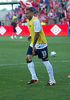 03 June 2012: US Men's National Soccer Team midfielder  Jermaine Jones #13 in action during the warm-up in an international friendly  match between the United States Men's National Soccer Team and the Canadian Men's National Soccer Team at BMO Field in Toronto..The game ended in 0-0 draw..