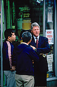 United States President-elect Bill Clinton tours Georgia Avenue and talks to citizens on the street in Washington, D.C. on November 18, 1992..Credit: Jeff Markowitz / Pool via CNP