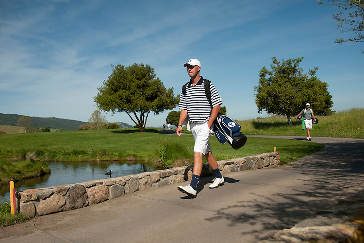 April 18, 2012; Hollister, CA, USA; BYU Cougars golfer Devon Purser during the WCC Golf Championships at San Juan Oaks Golf Club.