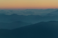 Post-sunset sky over mountain layers from Clingman's Dome, Great Smoky Mountains National Park