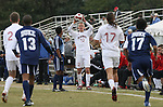 10 November 2007: NC State's Tyler Lassiter (12) takes a throw-in. The Duke University Blue Devils defeated the North Carolina State University Wolfpack 2-0 at Method Road Soccer Stadium in Raleigh, North Carolina in an Atlantic Coast Conference NCAA Division I Men's Soccer game.