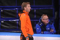 SCHAATSEN: LEEUWARDEN: 09-10-2015, Elfstedenhal, Training topsport, Rutger Tijssen, Geert Kuiper, ©foto Martin de Jong