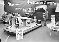 January 1971 --- An airboat at the 1971 International Boat Show. --- Image by © JP Laffont