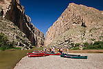 Canoe trip in Santa Elena Canyon, Big Bend National Park, Texas