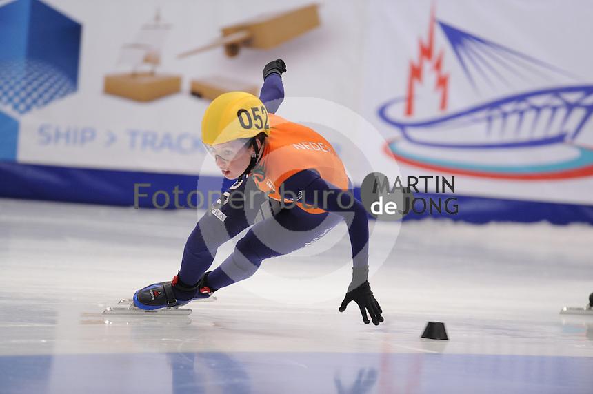 "SHORT TRACK: MOSCOW: Speed Skating Centre ""Krylatskoe"", 14-03-2015, ISU World Short Track Speed Skating Championships 2015, Ranking Races, Lara VAN RUIJVEN (#052 | NED), ©photo Martin de Jong"