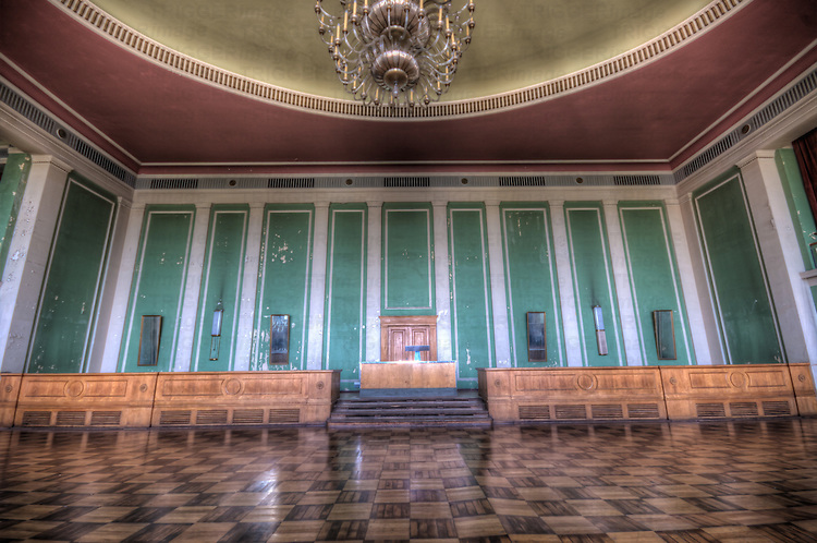 Ballroom in an old Palace in East Germany.