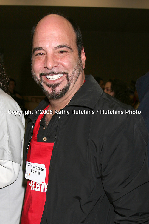 Christopher Lowell at the LA Mission Thanksgivng Feeding of the Homeless in    Los Angeles, CA.November 26, 2008.©2008 Kathy Hutchins / Hutchins Photo....