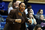 25 November 2014: Buffalo head coach Felisha Legette-Jack. The Duke University Blue Devils hosted the State University of New York Buffalo Bulls at Cameron Indoor Stadium in Durham, North Carolina in a 2014-15 NCAA Division I Women's Basketball game. Duke won the game 88-54.