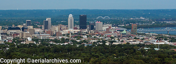 aerial photograph skyline downtown Louisville, Kentucky