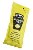 Sachet of Heinz Horseradish Sauce - Nov 2013.