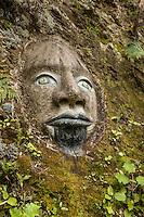 Maori face in relief on rock. (Photo by Travel Photographer Matt Considine)