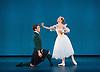 The Royal Danish Ballet soloists &amp; principals <br /> Bournoville Celebration <br /> at The Peacock Theatre, London, Great Britain <br /> press photocall<br /> 9th January 2015 <br /> <br /> La Sylphide <br /> <br /> Gudrun Bojesen as the Sylph <br /> Ulrik Birkkjaer as James<br /> <br /> <br /> <br /> <br /> Photograph by Elliott Franks <br /> Image licensed to Elliott Franks Photography Services