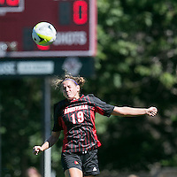 Newton, Massachusetts - September 20, 2015: NCAA Division I. Boston College (white) defeated University of Louisville (black/red), 2-0, at Newton Campus Soccer Field.