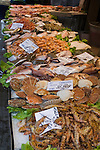 Selection of fish on market stall in Venice Italy
