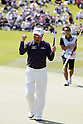 Toru Taniguchi, MAY 13, 2012 - Golf : Toru Taniguchi celebrates after wining on the 18th green during the PGA Championship Nissin Cupnoodles Cup 2012 final round at Karasuyamajo Country Club, Tochigi, Japan. (Photo by Yusuke Nakanishi/AFLO SPORT) [1090]
