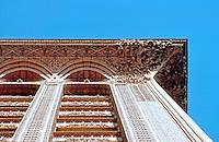 Louis Sullivan: Guaranty Bldg., Buffalo. Looking up to cornice.  Photo '88.
