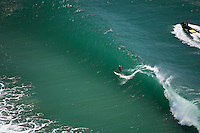 DAN PRYOR  (AUS)  surfing the Kirra end of the Superbank, Coolangatta, Queensland, Australia, in a swell wiped up by Cyclone Jasper.  Photo: joliphotos.com