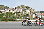 The breakaway group in action during Stage 6 of the 100th edition of the Giro d'Italia 2017, running 217km from Reggio Calabria to Terme Luigiane, Italy. 11th May 2017.<br /> Picture: LaPresse/Fabio Ferrari   Cyclefile<br /> <br /> <br /> All photos usage must carry mandatory copyright credit (&copy; Cyclefile   LaPresse/Fabio Ferrari)