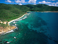 Aerial view of Reef Bay<br />