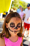 Sept. 9, 2012 - Merrick, New York, U.S. -  A skeleton is what this girl in pink had her face painted as, at the 22nd Annual Merrick Festival on Long Island, hosted by Merrick Chamber of Commerce.