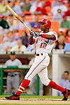 12 June 2006: Alfonso Soriano, outfielder for the Washington Nationals, makes a lead-off plate appearance during a game against the Colorado Rockies at RFK Stadium, in Washington, DC. The Nationals fell to the Rockies 4-3 in the first game of the four game series...Mandatory Photo Credit: Ed Wolfstein Photo..
