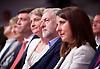 Labour Leadership <br /> Conference <br /> at The QE Conference Centre, Westminster, London, Great Britain <br /> 12th September 2015 <br /> <br /> Labour leadership candidates <br /> <br /> Andy Burnham <br /> Yvette Cooper<br /> Jeremy Corbyn <br /> Liz Kendall <br /> <br /> <br /> <br /> Photograph by Elliott Franks <br /> Image licensed to Elliott Franks Photography Services