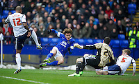 BOLTON, ENGLAND - Saturday, January 26, 2013: Everton's Nikica Jelavic in action against Bolton Wanderers during the FA Cup 4th Round match at the Reebok Stadium. (Pic by David Rawcliffe/Propaganda)