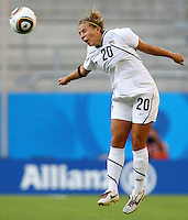 USA's Amber Brooks during the FIFA U20 Women's World Cup at the Rudolf Harbig Stadium in Dresden, Germany on July 14th, 2010.