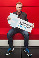 ***NO FEE PIC *** 05/06/2014 Jury Member Brian Gleeson – Actor (Love/Hate, Snow White and the Huntsman) during the launch of the ICCL (Irish Council for Civil Liberties) Human Rights Film Awards Shortlist at the IFCO in Smith field, Dublin. Photo: Gareth Chaney Collins