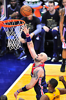 Wizards Marcin Gortat gets an uncontested layup. Cleveland Cavaliers defeated Washington Wizards in OT 140-135 during a game at the Verizon Center in Washington, D.C. on Monday, February 6, 2017.  Alan P. Santos/DC Sports Box