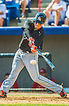 9 March 2013: Miami Marlins outfielder Chris Coghlan in action during a Spring Training game against the Washington Nationals at Space Coast Stadium in Viera, Florida. The Nationals edged out the Marlins 8-7 in Grapefruit League play. Mandatory Credit: Ed Wolfstein Photo *** RAW (NEF) Image File Available ***