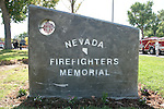 The Nevada Firefighters' memorial in Mills Park, Carson City, Nev.