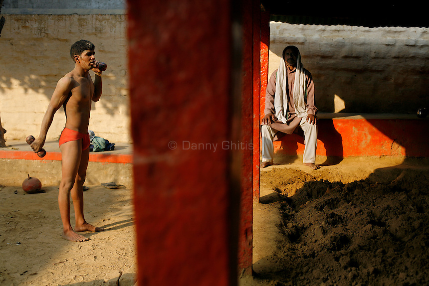 The ancient tradition of Indian wrestling, known as  kushti, thrives in Varanasi, one of the world's oldest cities. Wrestling gyms, or akhara, scattered around the city are of the few places where Hindu men from different casts are considered equals. Aside from bodybuilding, practiioners emphasize a life of discipline and celibacy. But as modernity sweeps India and Western sports like cricket become more popular, some akhara are being abandoned. While some prominent, government-run gyms switched to mats for Olympic-style wrestling, akhara in villages and towns maintain the old ways.