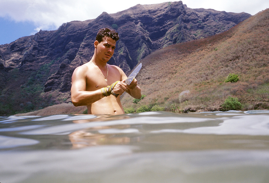 SURVIVOR: MARQUESAS contestant Rob Mariano..Photo: David M. Russell/CBS.©2002 CBS Worldwide Inc. All Right Reserved. This image may not be sold, distributed, stored or archived by any organization or person. This image is for editorial use only, in North America only (United States of America, Canada, Mexico and Caribbean Islands). Editorial publication is not permitted after June 30, 2002. For usage of this image outside the above terms and conditions, please contact CBS via email at: cbsphotoarchive@cbs.com or via fax at 212/975-3338.