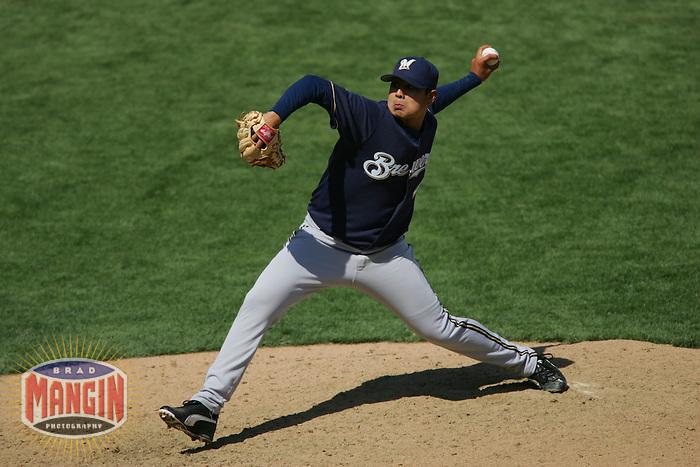 Jorge de la Rosa. Baseball: Milwaukee Brewers vs San Francisco Giants. April 24, 2005 at AT&T Park in San Francisco.