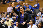 24 January 2016: Duke head coach Joanne P. McCallie. The Duke University Blue Devils hosted the University of North Carolina Tar Heels at Cameron Indoor Stadium in Durham, North Carolina in a 2015-16 NCAA Division I Women's Basketball game. Duke won the game 71-55.