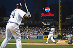 April 27, 2009:    #30 Magglio Ordonez of the  Detroit Tigers hit a home run in action during the MLB game between New York Yankees and Detroit Tigers at Comerica Park, Detroit, Michigan. Tigers defeated the Yankees 4-2 (Credit Image: Rick Osentoski/Cal Sport Media)