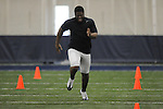 Mississippi football player Lamark Armour at Pro Day in the IPF in Oxford, Miss. on Tuesday, March 22, 2011.