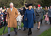 Royals Attend Xmas Day Church Service, Sandringham