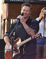 New York, NY August 5: Blake Shelton performs on NBC's 'Today' at Rockefeller Plaza on August 5, 2016 in New York City. Credit: John Palmer / MediaPunch